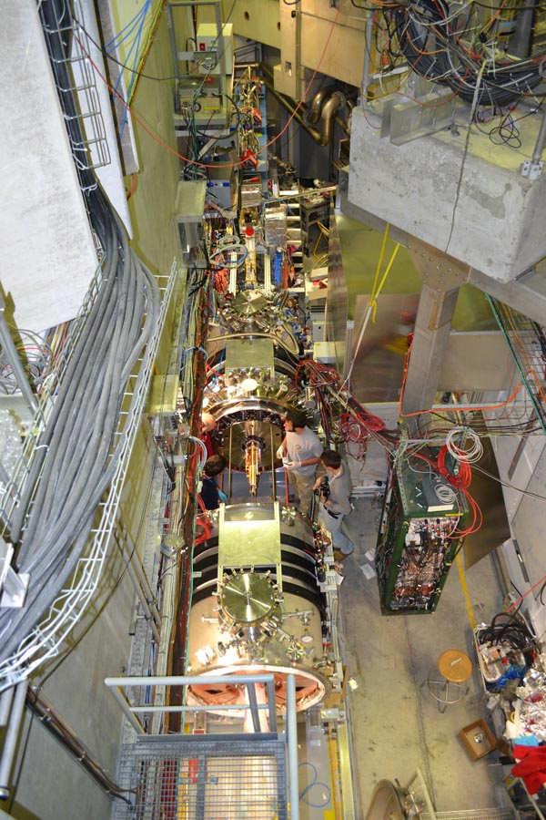 Top view of experimental area